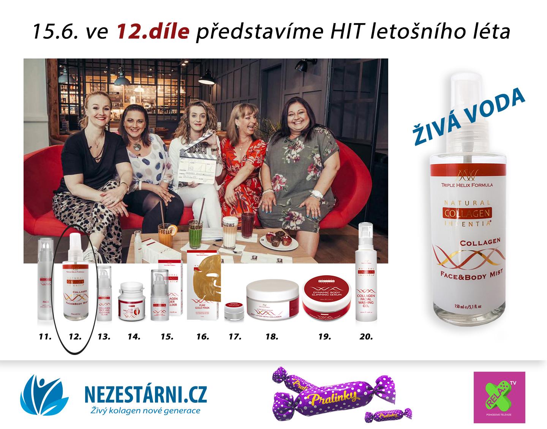 Živý kolagen - 150 Kč sleva a soutěž s NEZESTARNI.CZ a Pralinkami na TV RELAX