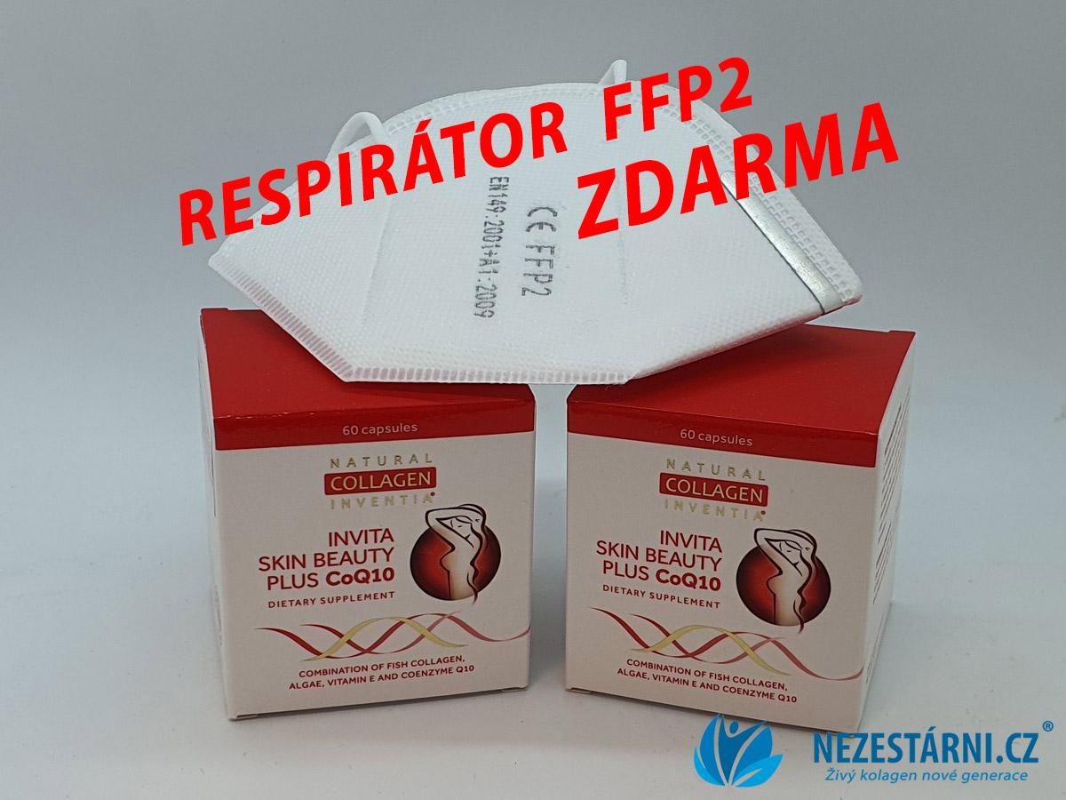K živému kolagenu ZDARMA RESPIRÁTOR FFP2 a ochranná rouška